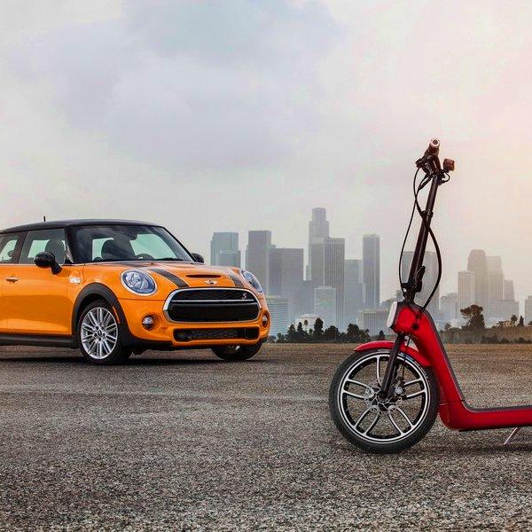 Mini, BMW, США, Великобритания, автомобиль, авто, автомобили, электродвигатель, В Mini представили концепт городского самоката