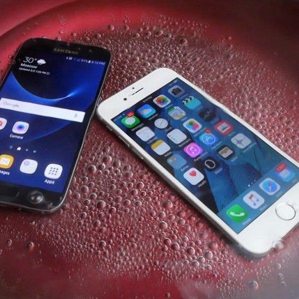 Apple, Samsung, Samsung Galaxy, Android, iOS, смартфон, Samsung Galaxy S7: что будет со смартфоном, если его сварить?
