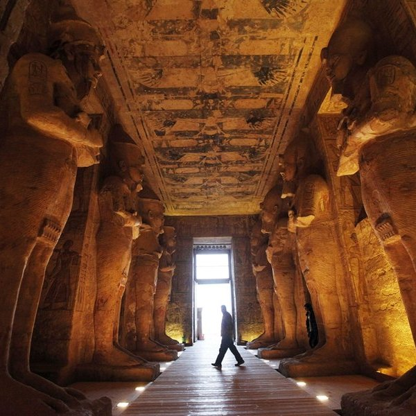 история,археология, Древности Египта: забытая статуя фараона Рамсеса II
